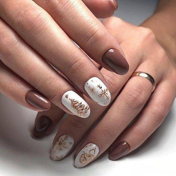 diseños de uñas navideñas sencillas