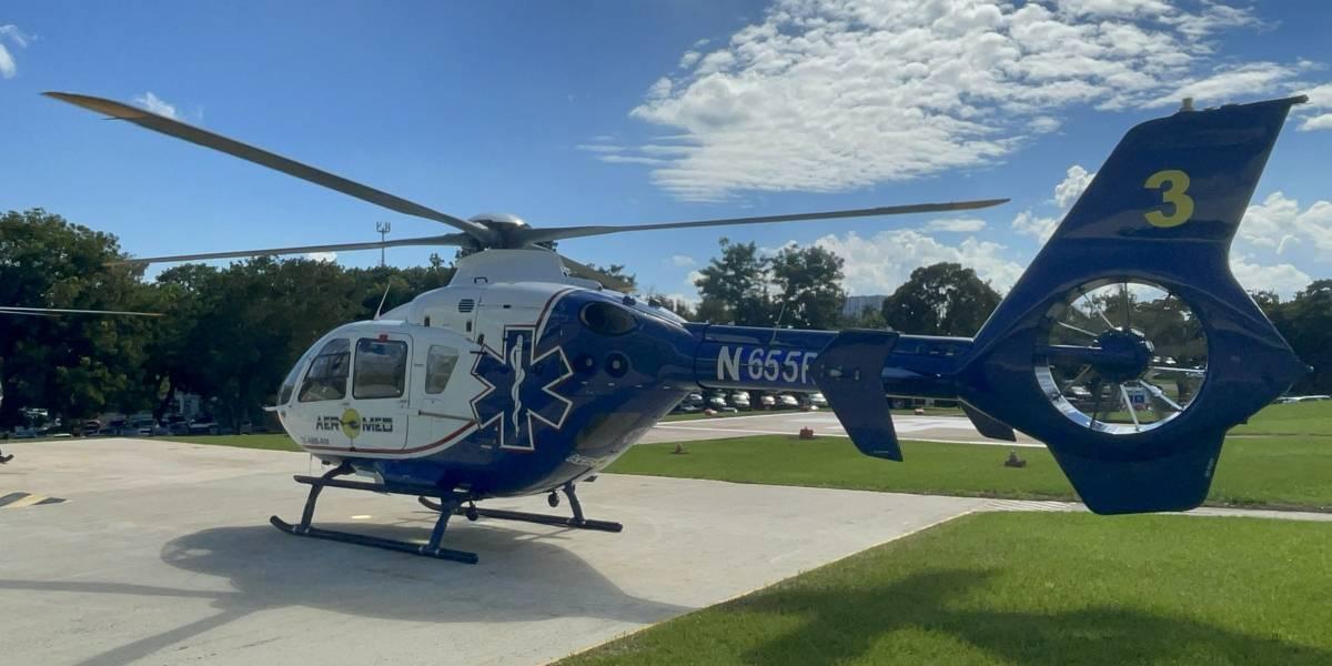 Aeromed adquiere nuevo helicóptero para traslado médico en la isla