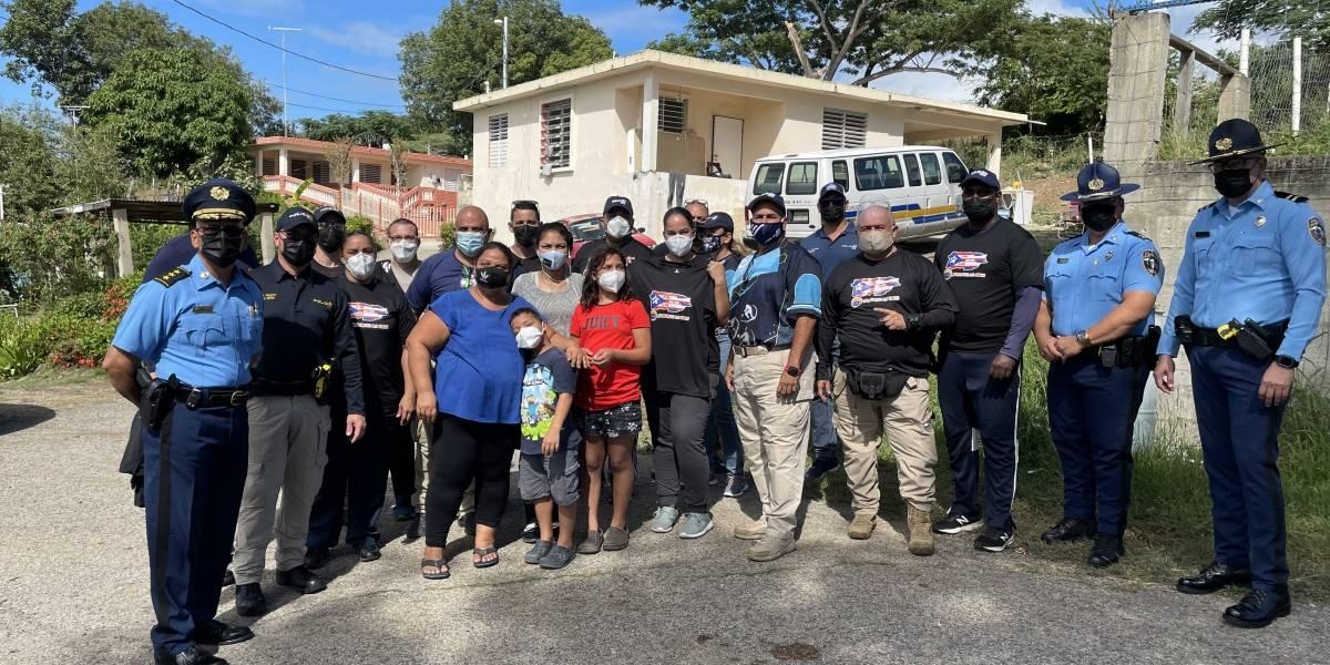 Liga Atlética Policiaca ayuda a familia sin hogar en Lajas a tener un techo seguro