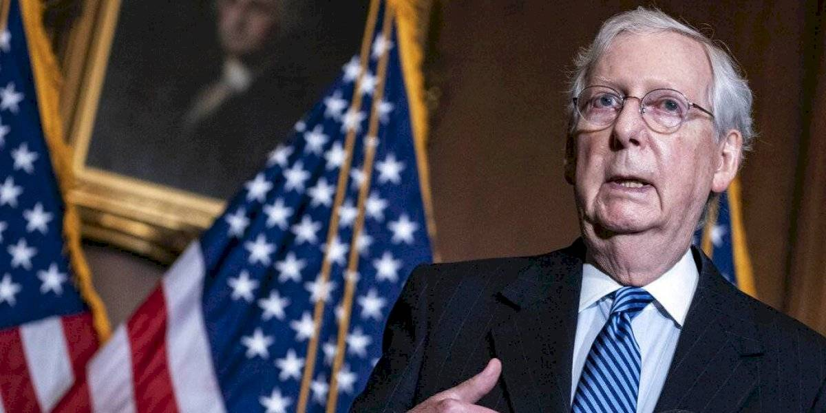 Líder del Senado federal cierra paso a más ayuda por COVID-19