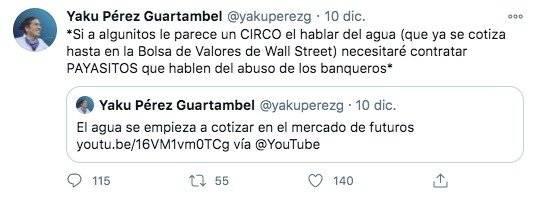 Yaku Pérez en Twitter