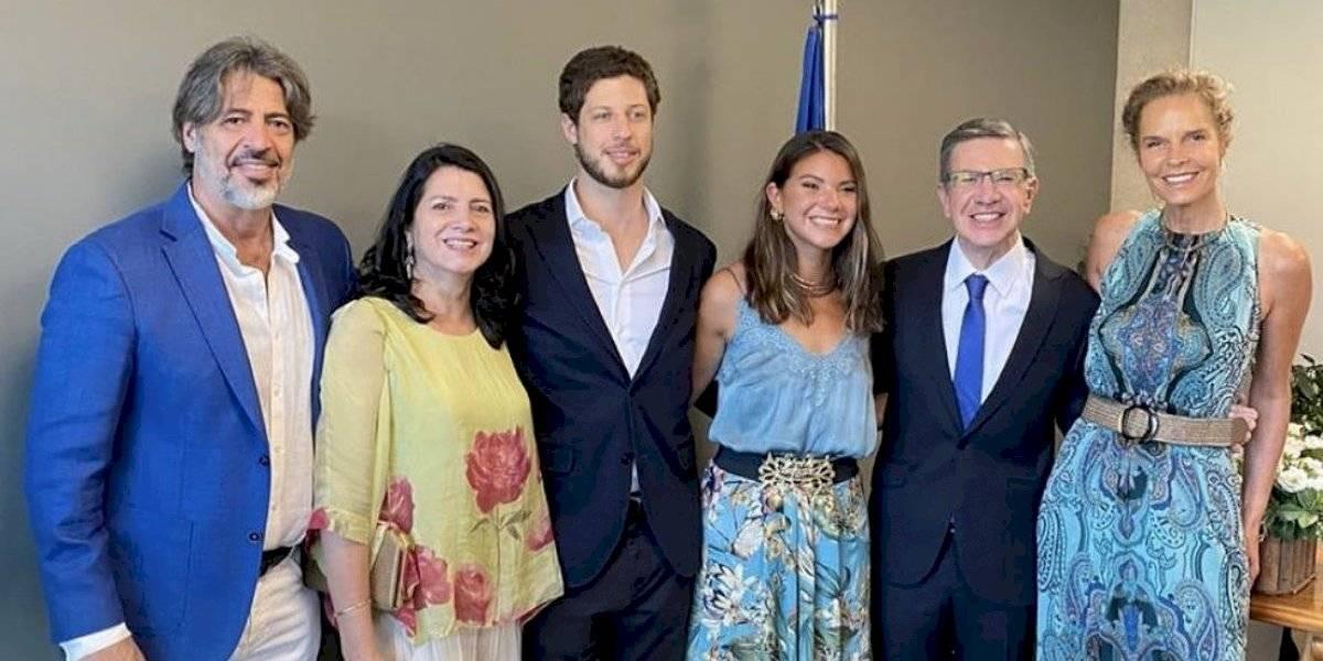 Lavín se convirtió en consuegro de Miguelo: hija menor del alcalde se casó con hijo del cantante