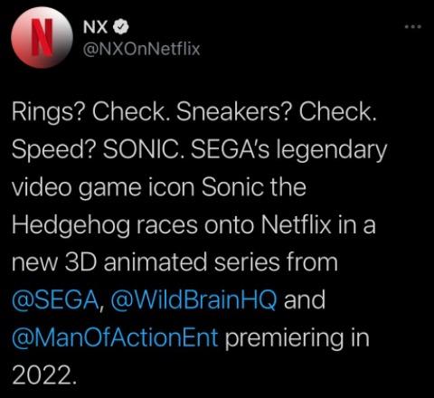 Netflix Sonic Serie