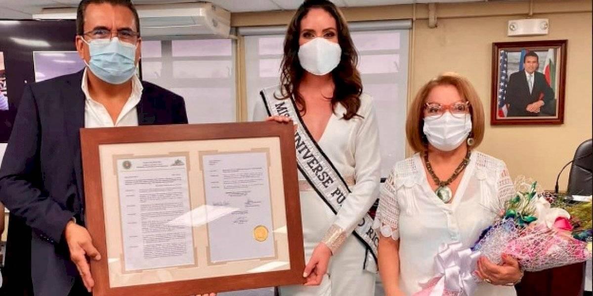 Reconocen a Estefanía Soto por su desempeño como Miss Universe Puerto Rico 2020