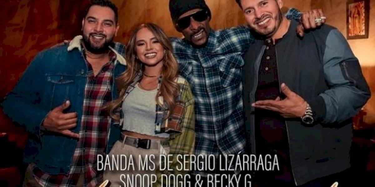 """Extraño junte entre Banda MS, Snoop Dogg y Becky G termina con el remix de """"Que maldición"""""""