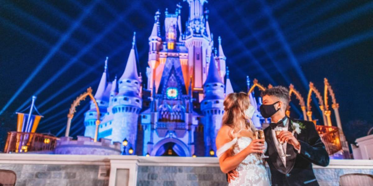 Jordan Fisher y Ellie Woods se casan en mágica ceremonia en Disney World