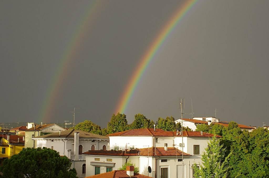 Doble arcoíris en Verona