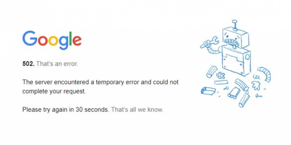 Caída de Google: plataforma sufre apagón mundial de Gmail, YouTube, Drive y otros servicios