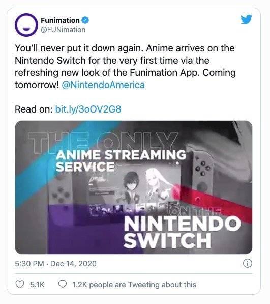 Nintendo Switch Funimation