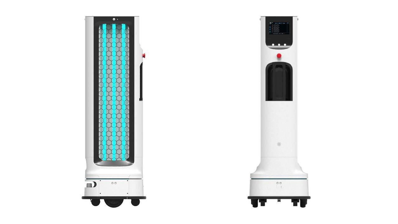 Robot de LG para prevenir el coronavirus.