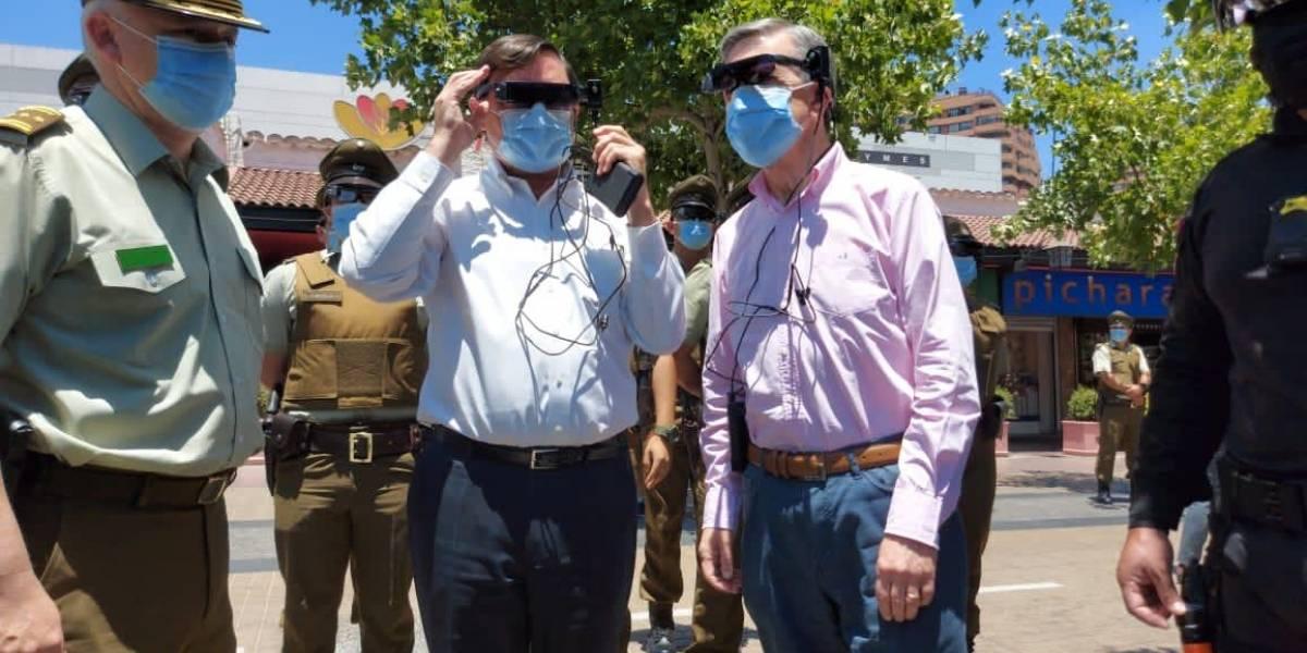 """A lo """"Robocop covid"""": visores térmicos permitirán a Carabineros identificar en una multitud a personas con síntomas"""
