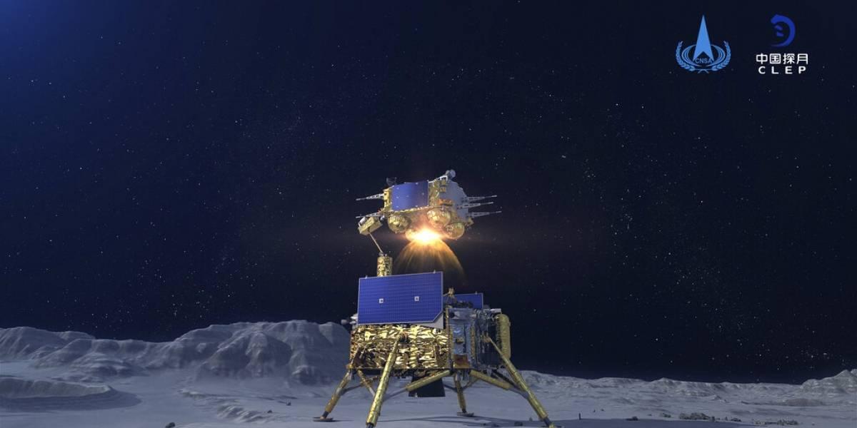 Sonda lunar china regresa a Tierra