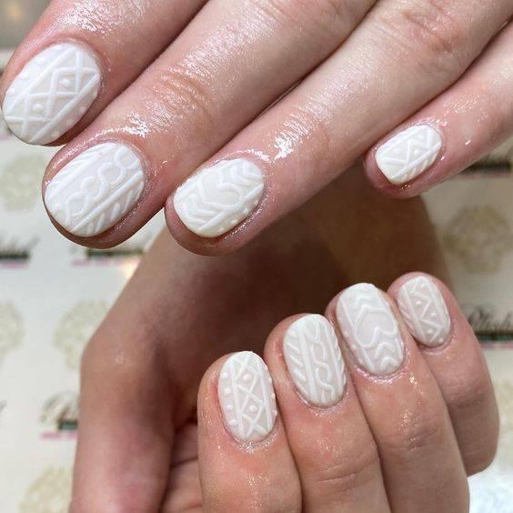 diseños de uñas efecto sueter