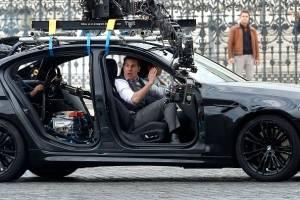 Tom Cruise en las grabaciones de Misión Imposible 7