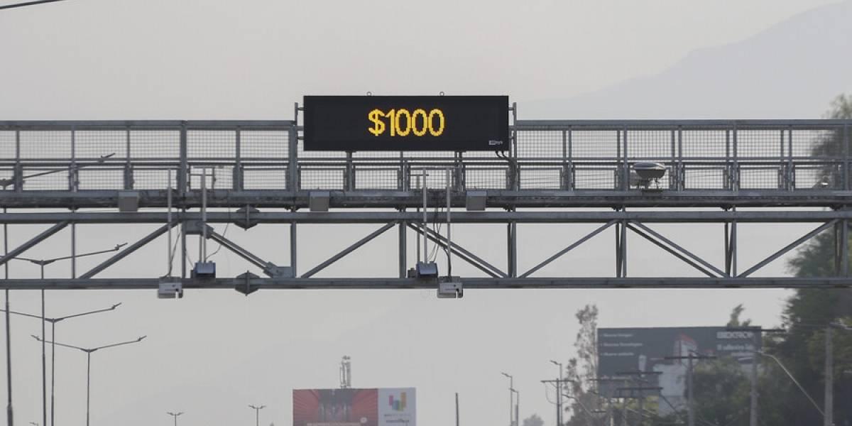 El precio del TAG en las autopistas de Santiago aumentará 2,7% a partir del 1 de enero