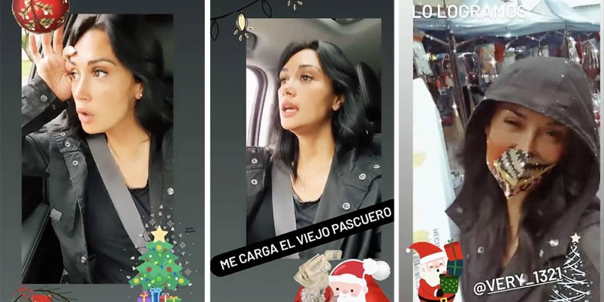 Lo que hace el amor: Pamela Díaz fue a Meiggs a comprar su primer árbol de Navidad después de 10 años