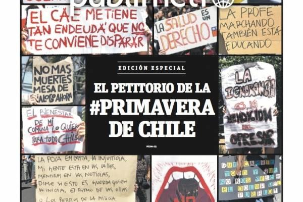 Premios ÑH20: Publimetro logra medalla de bronce por diseño de sus portadas en estallido social
