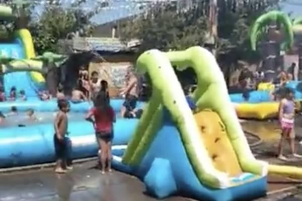 """Fiesta del Agua"" en La Pintana termina con querella"