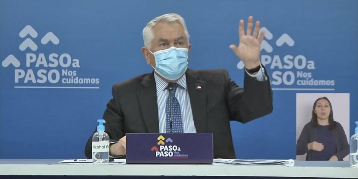 No era 45% sino que 8%: ministro Paris aclara aumento de contagios de covid en la RM
