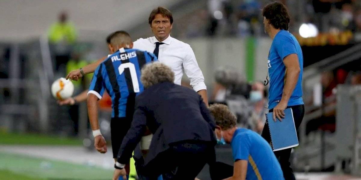 """Antonio Conte no se lo manda a decir con nadie: """"Alexis Sánchez se lesiona muy seguido"""""""
