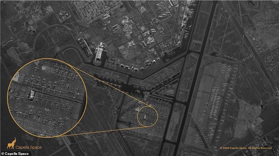 Imagen tomada por el satélite Capella.