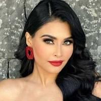 Kristal Silva deslumbra en un mini vestido de cuero negro combinado con botines rojos