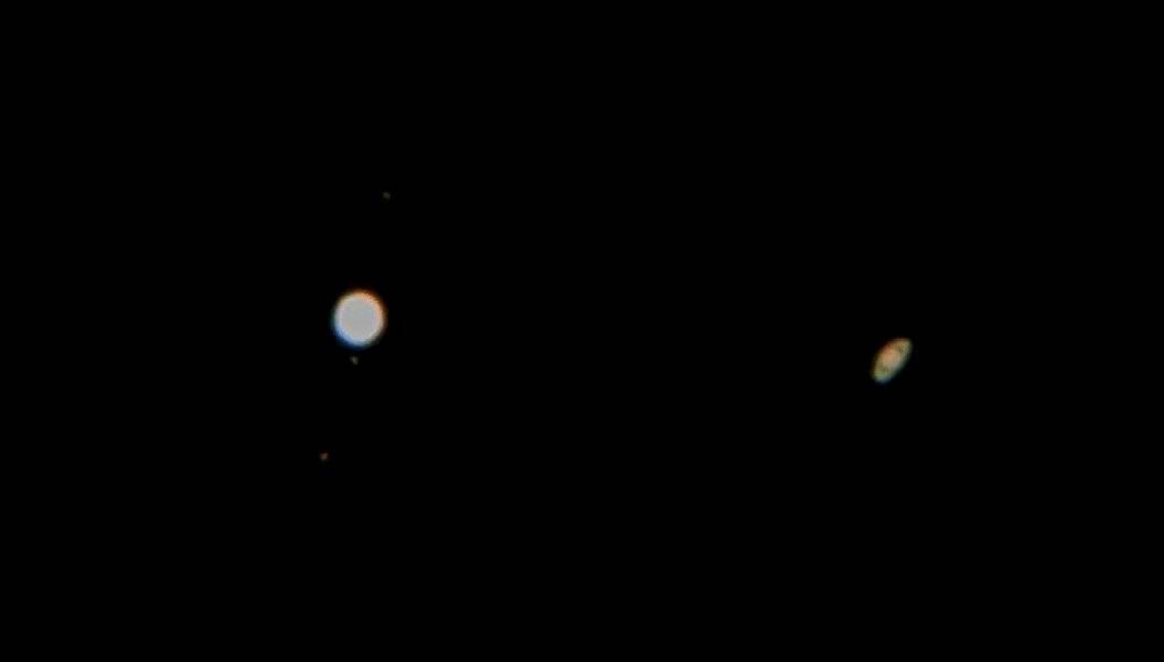 Así se vio la conjunción de Júpiter y Saturno desde Puerto Rico