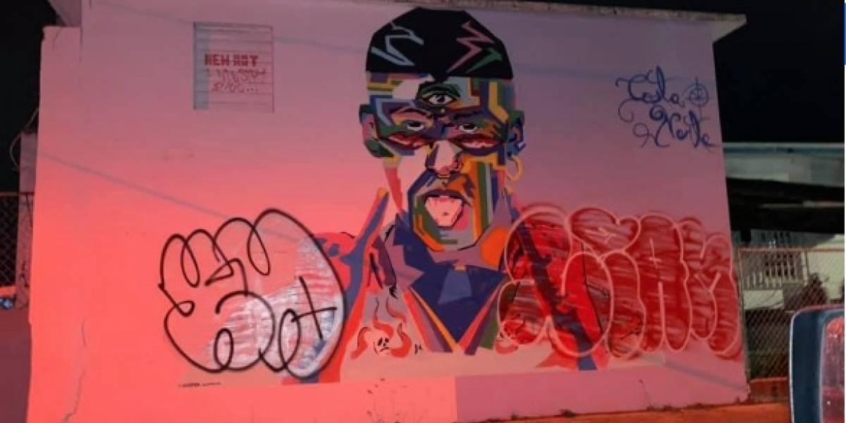 Vandalizan mural dedicado a Bad Bunny en Vega Baja