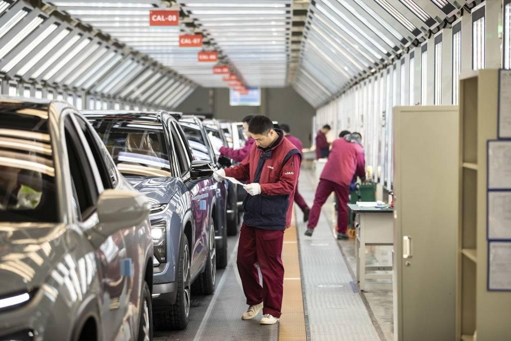 Fábrica de automóviles Tesla en China.