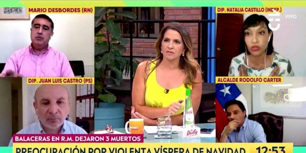 """""""No me vengas a tergiversar"""": el tenso debate entre Natalia Castillo y Mario Desbordes por la corrupción en las policías y Fuerzas Armadas"""