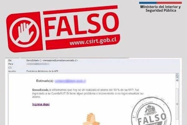 Alerta de estafa: reportan correo fraudulento a clientes de BancoEstado por el pago del segundo retiro del 10%