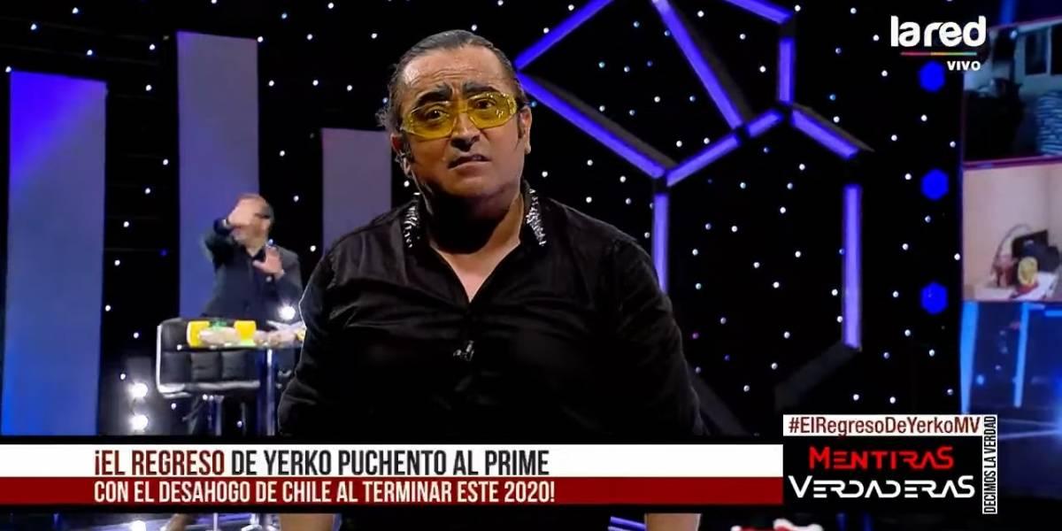 """Volvió con todo: Yerko Puchento disparó contra Piñera, Canal 13 y varios más en su estreno en """"Mentiras Verdaderas"""""""