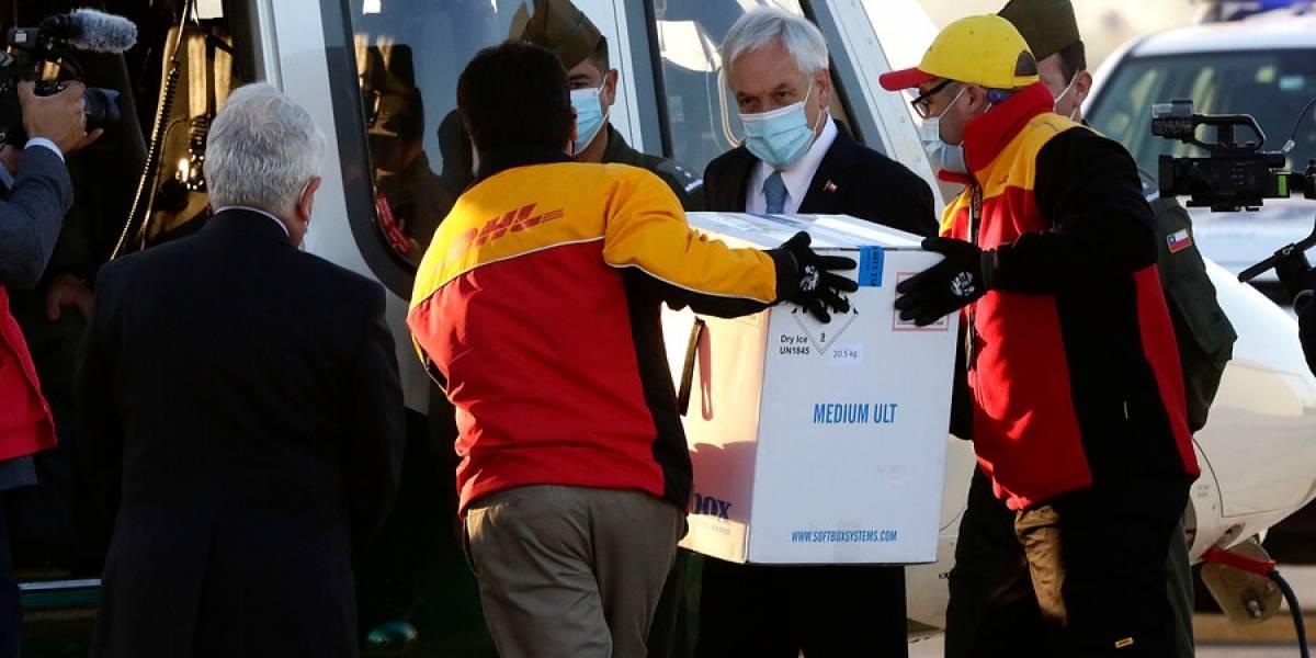 """Piñera tras arribo de vacunas contra coronavirus: """"Es un momento de mucha alegría, de mucha emoción"""""""