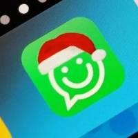 ¿Cómo colocar el gorro de Navidad en el logo de WhatsApp?