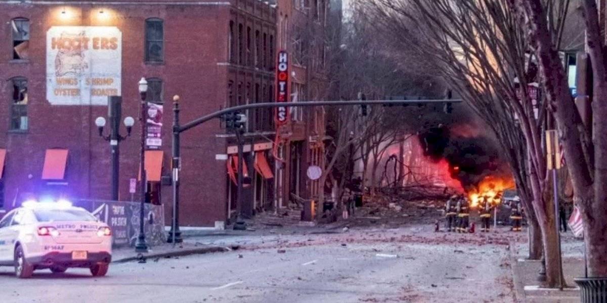 (Video) Cámaras captaron el momento exacto de la explosión en Nashville