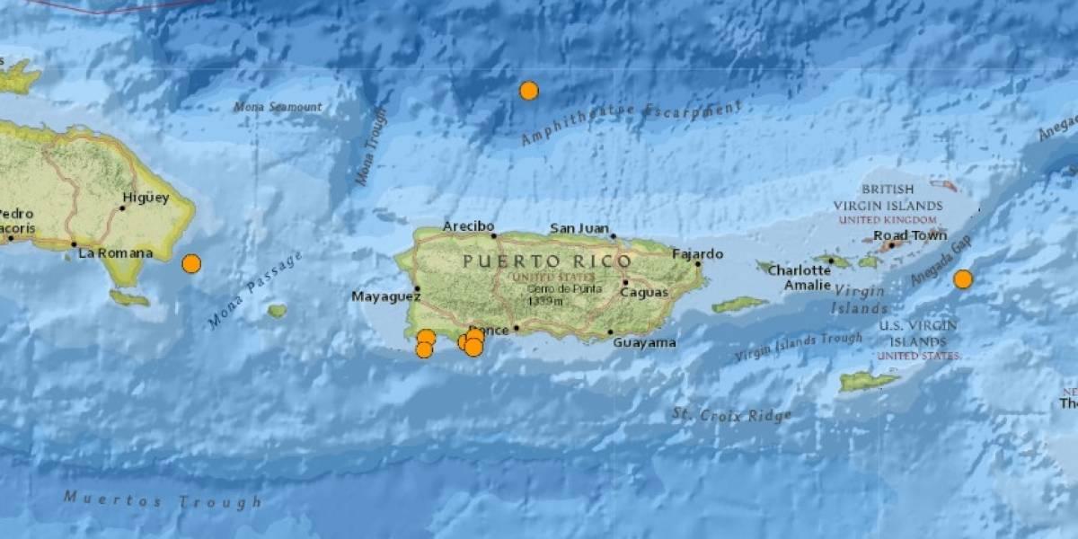 Se reporta temblor de 3.7 que fue sentido en varios pueblos del sur y centro la Isla