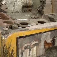 Arqueólogos descubren en Pompeya un puesto de comida rápida de 2 mil años