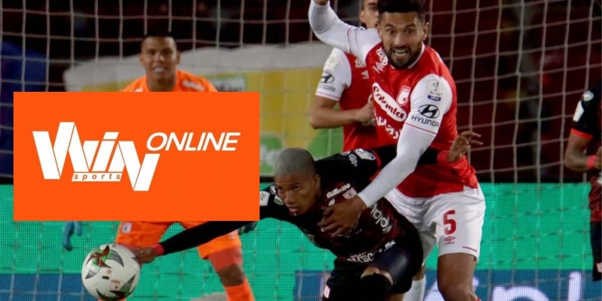 IMÁGENES | Quejas por fallas de Win Sports online en la final Santa ...