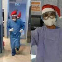 Montan coreografía médicos de Guanajuato para alegrar a pacientes de Covid-19 en Navidad