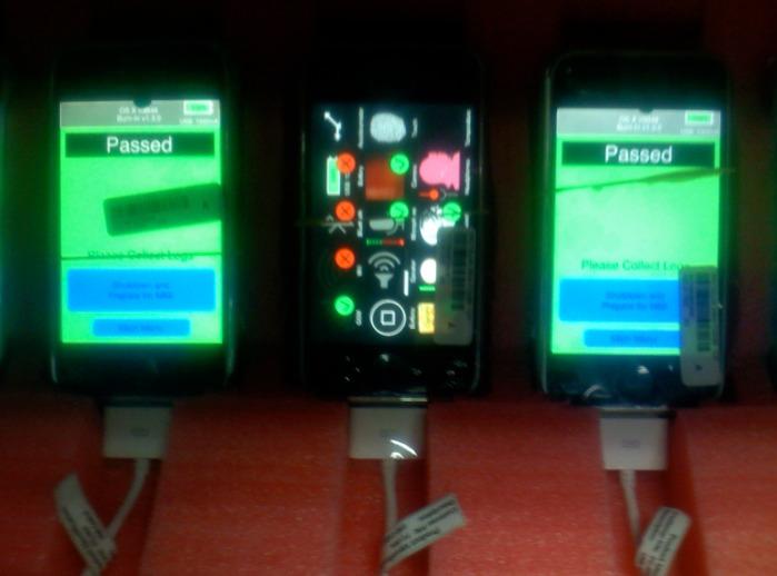 El proceso de ensamblaje del iPhone.