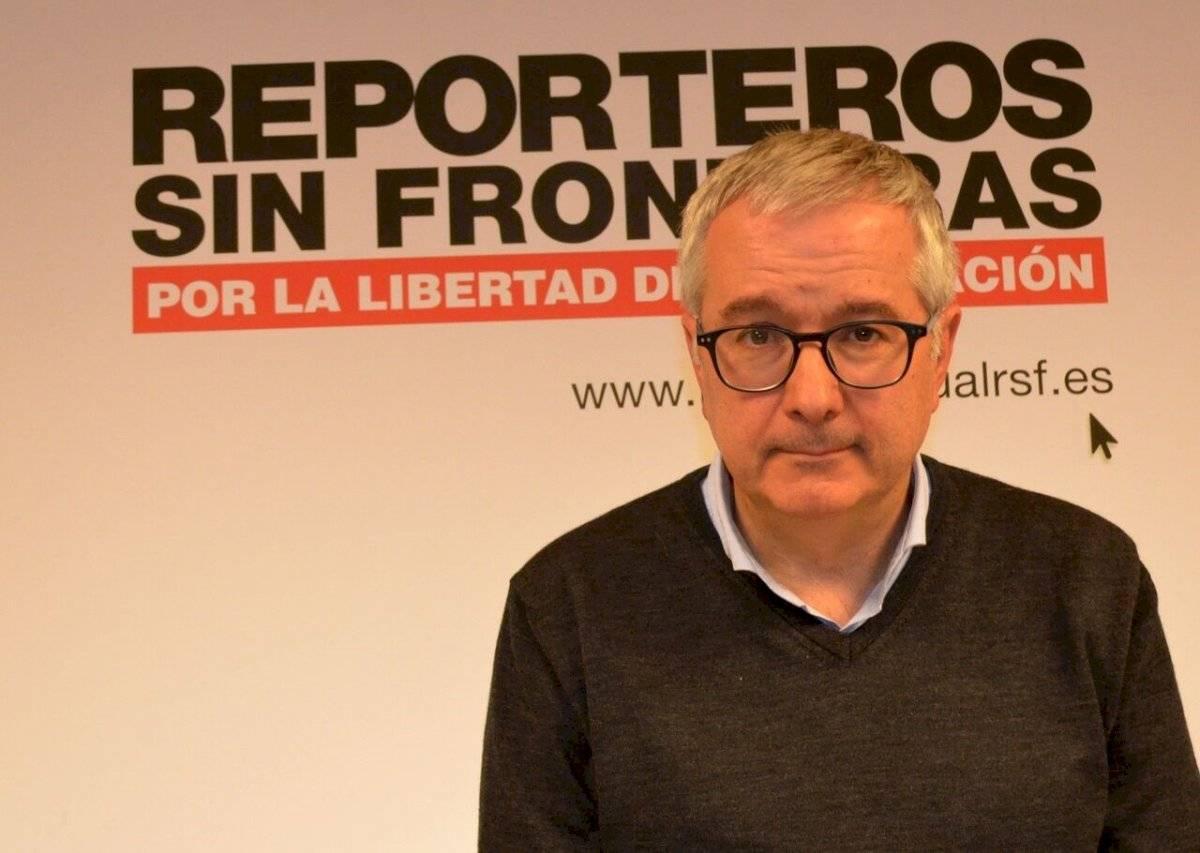 Alfonso Armada, presidente de la Sección Española de Reporteros Sin Fronteras.