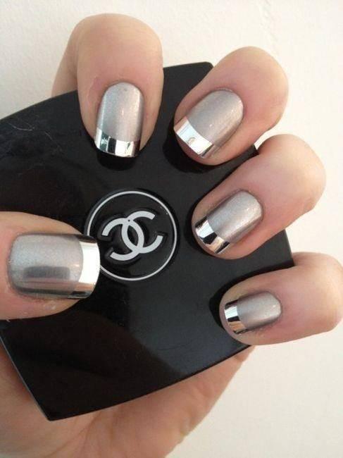 diseños de uñas efecto espejo