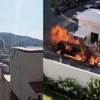 Alarma explosión de vehículos en la zona costera de Acapulco