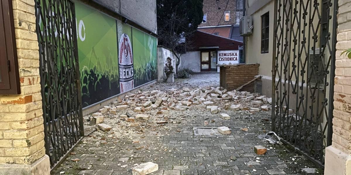 Sismo de magnitud 6,3 remece Croacia y deja cinco muertos