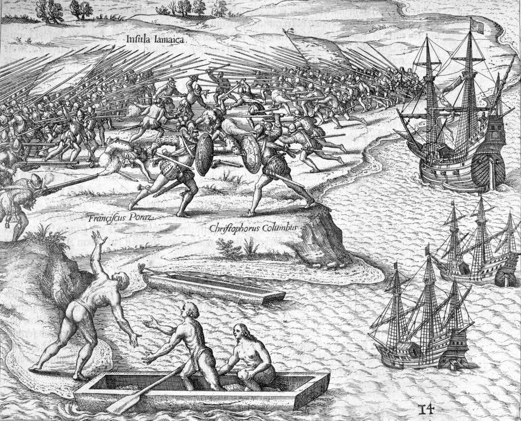Primeros enfrentamientos entre conquistadores y aborígenes en la actual América.