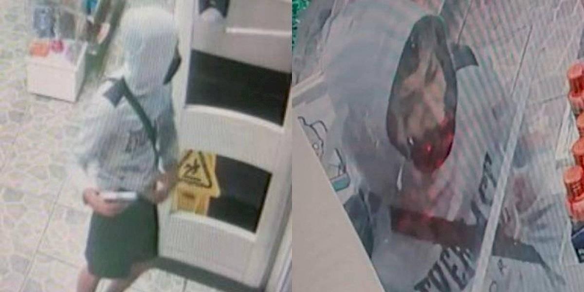 Policía pide ayuda para identificar a asaltante que disparó contra puerta de una gasolinera