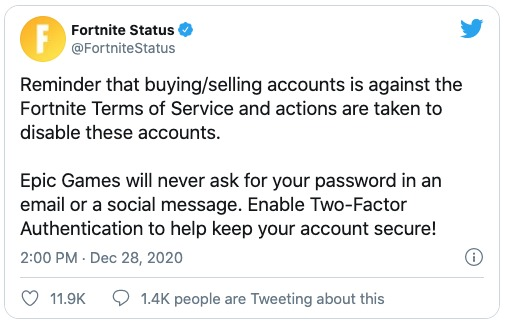 Fortnite cuentas Epic