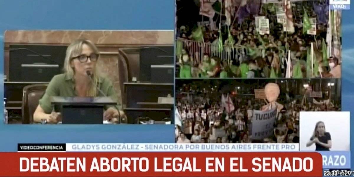 La aplaudida intervención de senadora en votación de legalización del aborto en Argentina