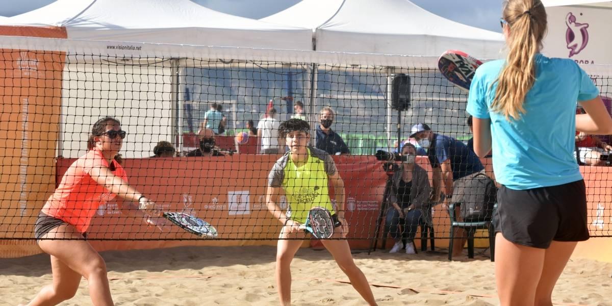 Tenis.-Las parejas Ramos-Cappelletti y Farias-Fernández se llevan el ITF Beachtennis Gran Canaria Final 2020