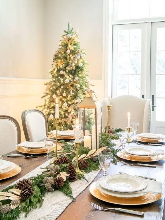 Decoración mesa cena fin de año